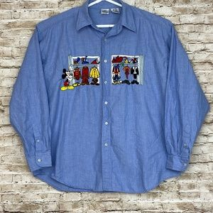 Disney Store Embroidered Mickey Mouse Shirt XL